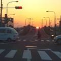 写真: 夕焼け 2014.4.11