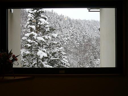 湯元白金温泉ホテル窓からの眺め