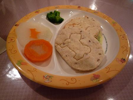 万里と疾風の夕食。