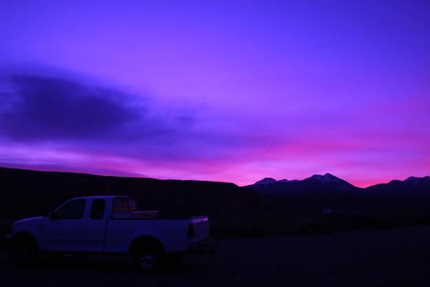 キャンプ場の夜明け♪
