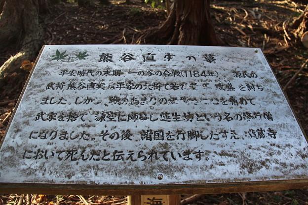 知りませんでした 熊谷直実の墓