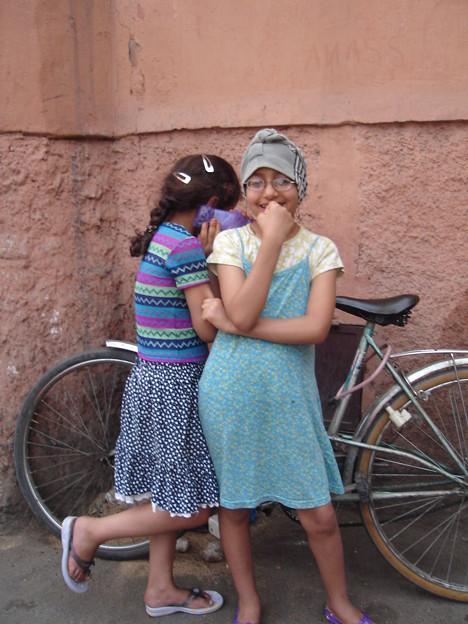 Cute Morocan girls in Medina