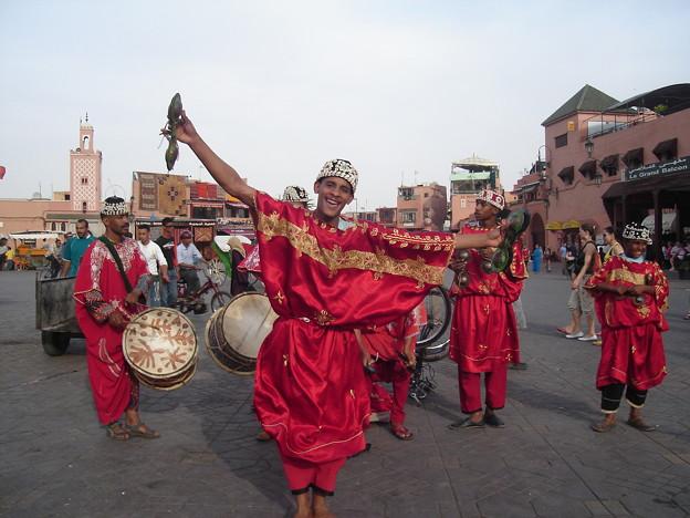 Street musician in Marrakech