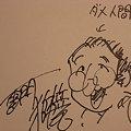 写真: 風とマンダラ3巻にサイン キウイさん