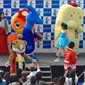 オアシス21:いやしす誕生祭 2014 No - 13(ステージに沢山のゆるキャラ!)