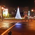 写真: 小牧駅前のクリスマスイルミネーション