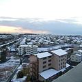 写真: 冬の夕焼け