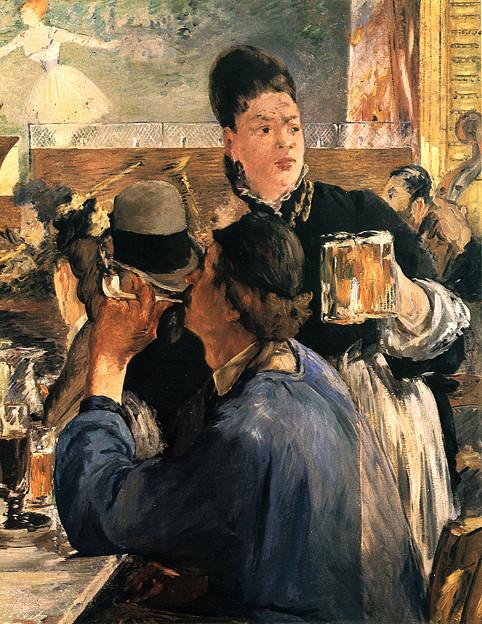 マネ-1879ビヤホールの給仕女-ロンドンナショナル・ギャラリー