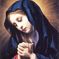 写真: カルロ・ドルチ1655受胎告知、聖母-ルーブル美術館