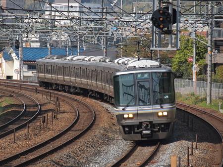 223系普通 東海道本線サントリーカーブ