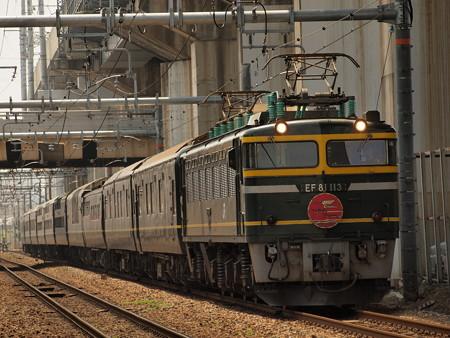 EF81 トワイライトエクスプレス回送 北方貨物線塚本信号場~宮原操車場