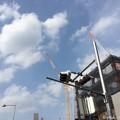 五月晴れの雲に届けクレーン