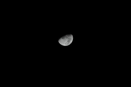 2009年1月6日、19時41分に撮影した月