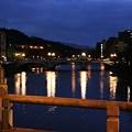 写真: 浅野川 中の橋から大橋を見る