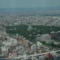 写真: ミッドランドスクウェア展望台から名古屋城を臨む