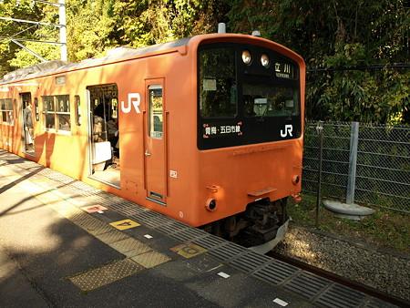 201系青梅線(日向和田駅)