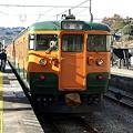 写真: 115系吾妻線(小野上駅)