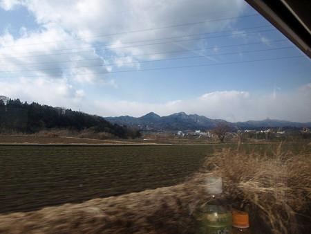 吾妻線の車窓(小野上温泉付近)