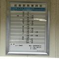 写真: 岩島駅時刻表