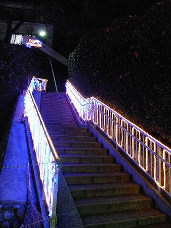 階段の飾り物1(玉川学園駅前)
