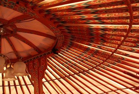 モンゴル村のテント