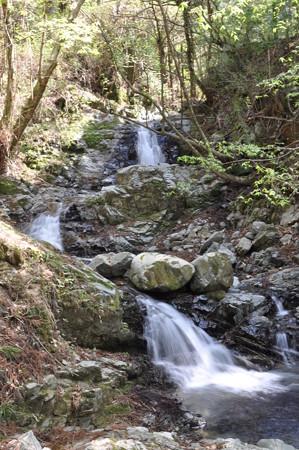 神末不動の滝下流の段滝