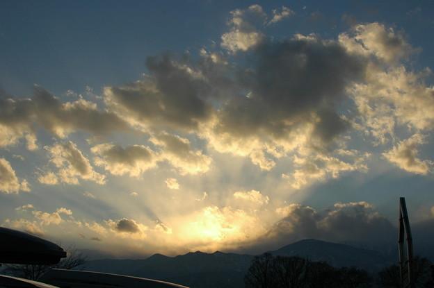 2008 新春 北アルプス 夕焼け