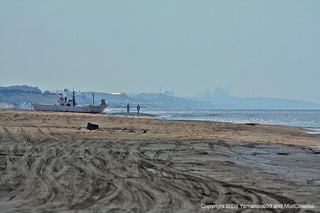 米出海岸の風景