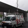 写真: テレビ中継車(HBC)