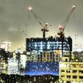 Photos: 夜の雨粒模様