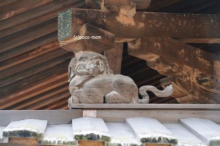 法隆寺金堂支柱飾り 象2014年02月10日_DSC_0308