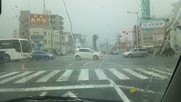 宮崎市内は大雨