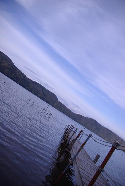 倶多楽湖にて