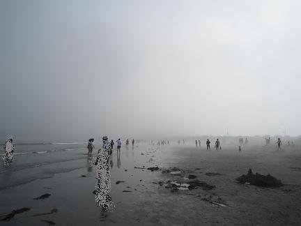 突然の霧!