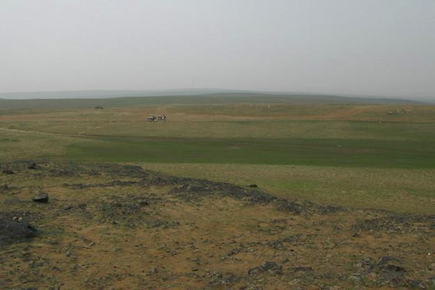 写真: 見渡す限りの大草原