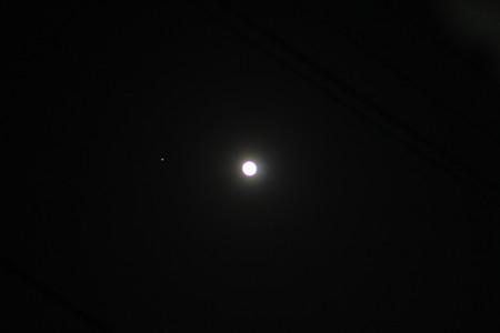 4/14の火星と月