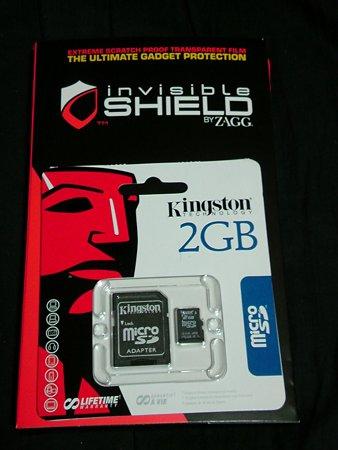 invisibleSHIELD + microSD 2GB