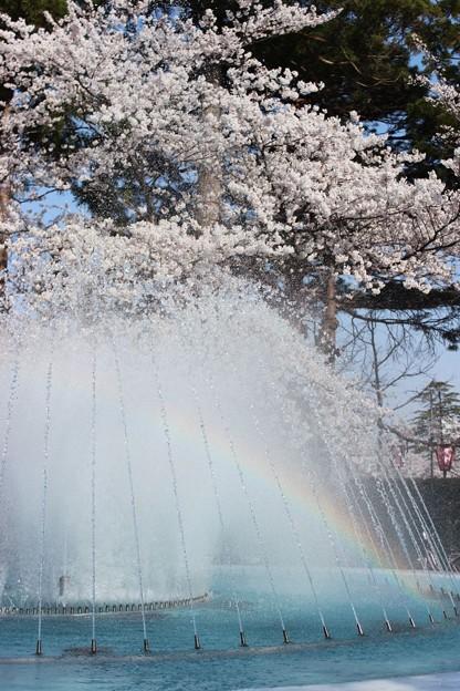 写真: 虹の噴水