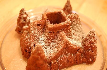 ノルディックウェアで焼いたケーキ