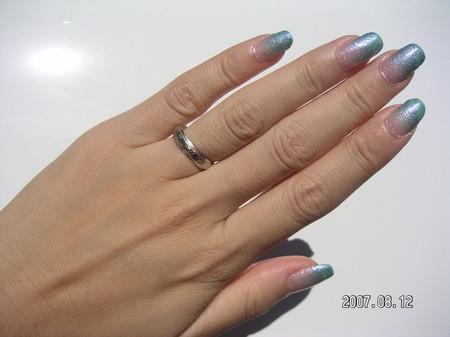 Blue Hawaiian Nail 1