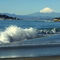 写真: 稲村ヶ崎海岸