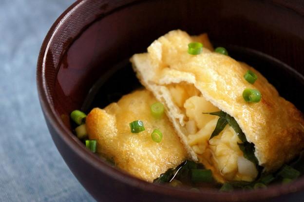 写真: 明石焼き風♪とろとろ卵豆腐入りこんがりお揚げさん