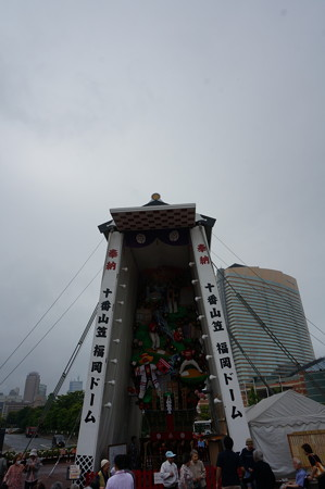 10 2014年 博多祇園山笠 福岡ドーム 飾り山笠 常勝玄界鷹 (4)
