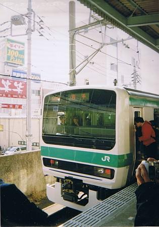 2001年JR東日本E231系お披露目会にて