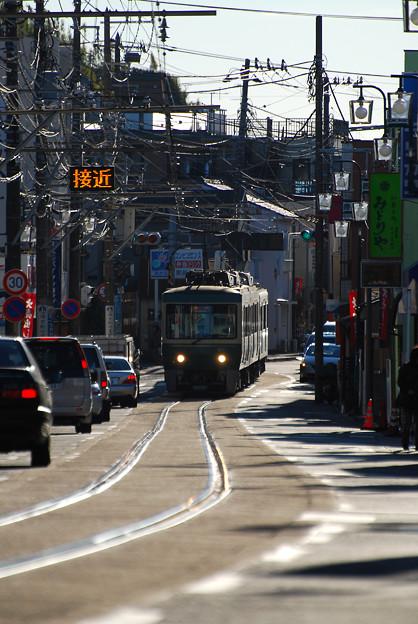 腰越駅から江ノ島駅へ出発