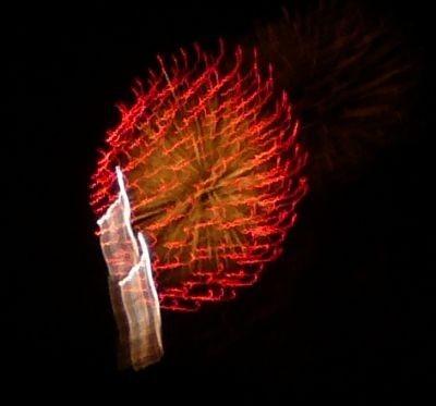 季節外れの花火