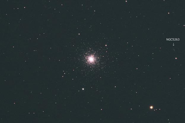 球状星団 M3 + NGC5263銀河 (^^)