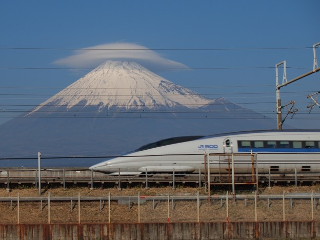 富士山と500系