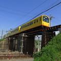 Photos: 黄色い電車、橋を渡る。@三岐鉄道北勢線西桑名駅~馬道駅