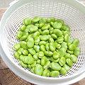 写真: 剥いた空豆